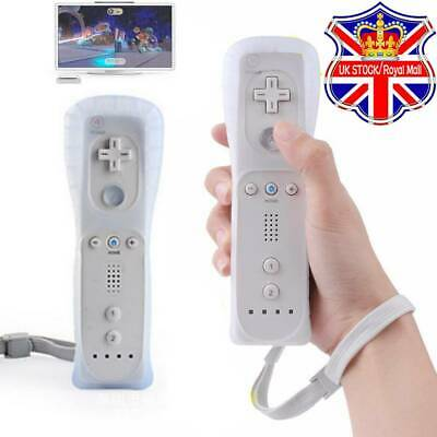 Brand New Uk White Remote Controller For Nintendo Wii & Wii U + Silicone + Strap