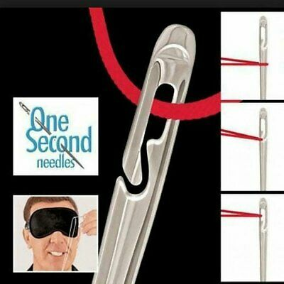 One Second-Needles Self Threading Needles Hand Sewing Repair Set of 12 ##