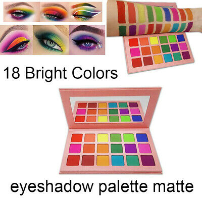 Matte Eyeshadow Palette 18 Bright Colors Rainbow Makeup Eye Shadow Cosmetics Set