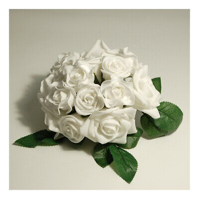 S&W Bridal F7051WH   Bouquet   Assorted Rose   White