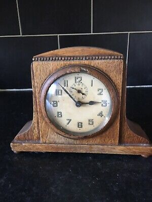Antique wooden Mantal Clock Wined Up