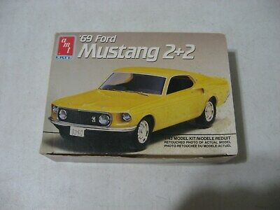 AMT/ERTL 1969 Ford Mustang 2+2 1/43 Scale Model Kit #6902
