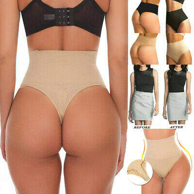High-Waist Body Easy Shaper Tummy Control Thong Pants Shapewear Slim Underwear