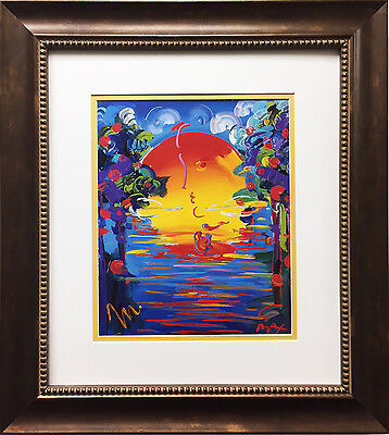 """Peter Max """"Better World"""" NEWLY CUSTOM FRAMED Print Art POP psychedelic Neo"""
