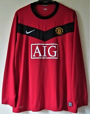Mens Nike Fit Dry Manchester United Football Club Home Shirt Size Xxl Used
