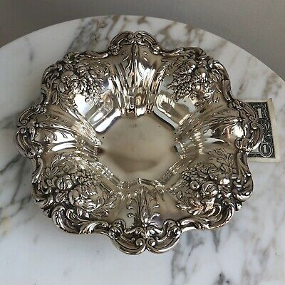 "STERLING SILVER  REED & BARTON 8"" Bowl FRANCIS I X569 EXCELLENT-311g"