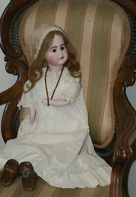 "Rare Early 29"" Antique Simon Halbig 949 German Bisque Doll - C.1880"