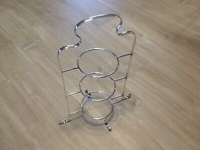 Lovely Antique Vintage Quality Silver Plated 3 Tier Cake Stand