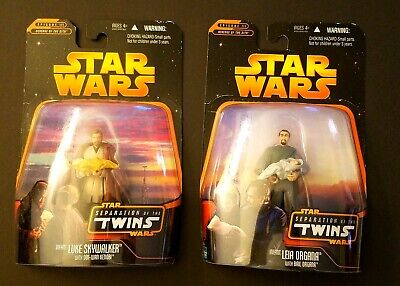 "Star Wars ""Separation of the Twins"" Luke Obi Wan Leia Bail Organa Action Figures"
