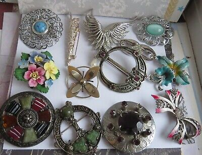 Job Mixed Lot Vintage BROOCHES-For Resale /Wearing
