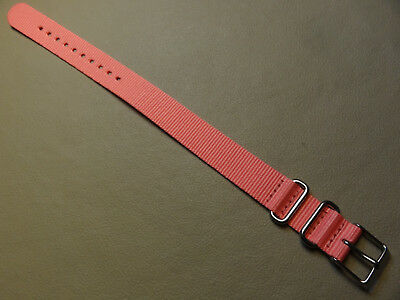 LONG Easy Pass Thru Ladies Timex Weekender ONE PIECE T2P368 16mm Watch Band Pink