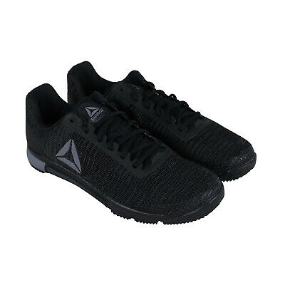 Reebok Speed TR Flexweave Mens Black Athletic Gym Cross Training Shoes
