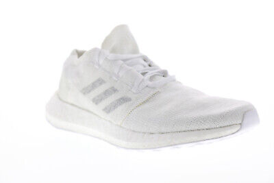 Adidas Pureboost Go Mens White Textile Low Top Lace Up Sneakers Shoes