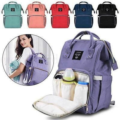 Baby Diaper Nappy Mummy Changing Bag Backpack Multi-Function Hospital Rucksack W