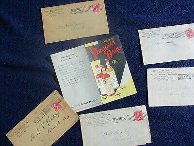 1880-1900's (12) QUACK Medicinal Wine,Trade Cards,Druggist Documents,Covers lot!