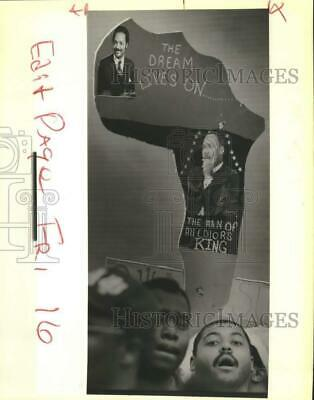1989 Press Photo Parade In Remembrance Of Dr. Martin Luther King, Jr.