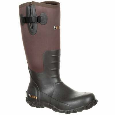Rocky Core Brown Rubber Waterproof Outdoor  Boots Outdoor Hunting  Boots Brown