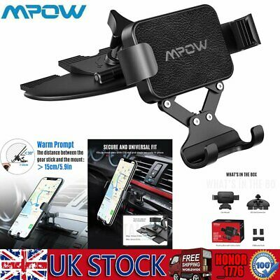 Mpow Gravity CD Slot Mobile Phone Holder In Car Universal Stand Cradle Mount UK
