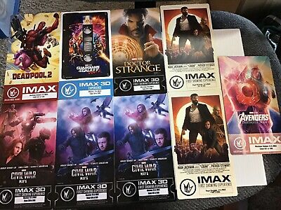 IMAX Regal Collectible Ticket MARVEL MOVIES! Deadpool 2, Guardians Of Galaxy