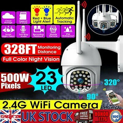 Wireless WiFi 1080P Camera HD Waterproof Dome Home Security 23 LED Night Vision