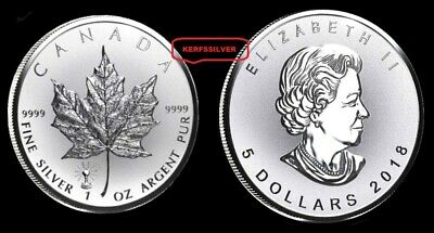 2018  Canadian Maple Leaf  1 Oz. Light Bulb Privy 9999 Reverse Proof Silver Coin
