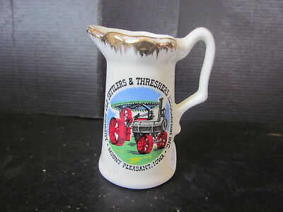 Cabinet Sz Porcelain Cream Pitcher Creamer Midwest Old Settlers Threshers Assoc