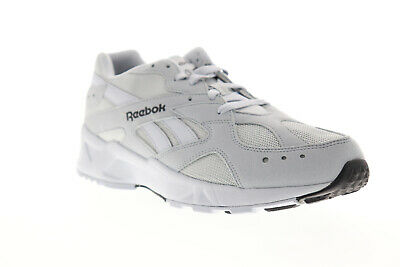 Reebok Aztrek 93 DV8666 Mens Gray Suede Casual Lace Up Low Top Sneakers Shoes