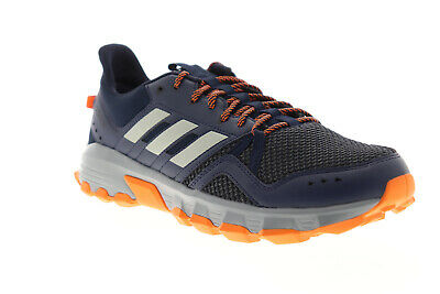 Adidas Rockadia Trail Mens Blue Leather & Textile Athletic Trail & Hiking Shoes