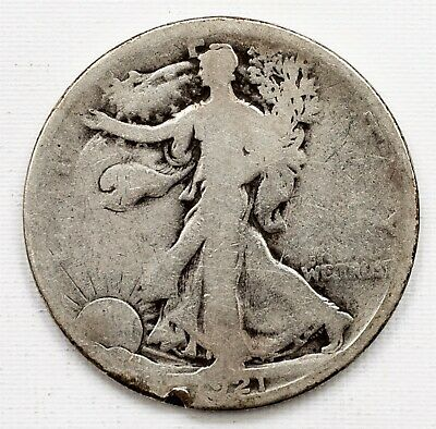 1921-S Walking Liberty Half Dollar - 50c Silver