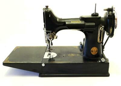Vintage 1938 Singer 221 Featherweight Scroll Face Sewing Machine WORKING