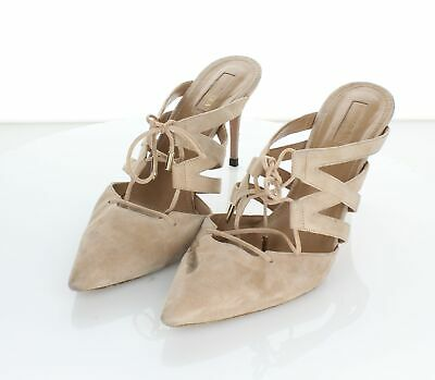 Aquazzura Amazon Nude Calf Lace up Heel 40
