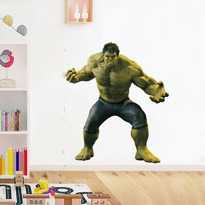 Marvel DC The Hulk Superhero Avenger Wall Sticker Kids Boys Room Cartoon Decals