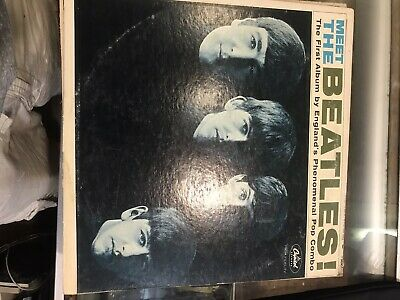 Meet the Beatles -  Capitol mono T 2047 album Olive Green Blue sleeve NICE COPY