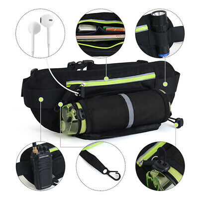 Running Hiking Sport Bum Bag Travel Money Phone Fanny Pack Waist Belt Pouch