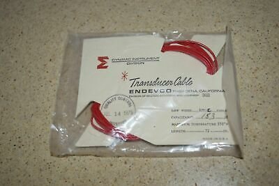 """ENDEVCO 3091C- 72"""" - 183pF 350˚F ACCELEROMETER CABLE- NEW (#2)"""