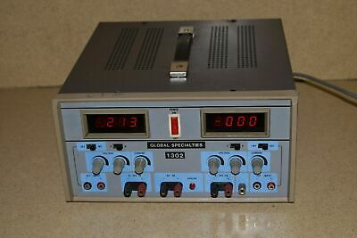 Global Specialties MODEL # 1302 Digital Triple Output DC Power Supply