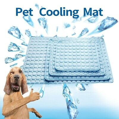 Pet Mat Dog Cat Cold Bed Indoor Summer Cooling Rubber Sleeping Pad Seat