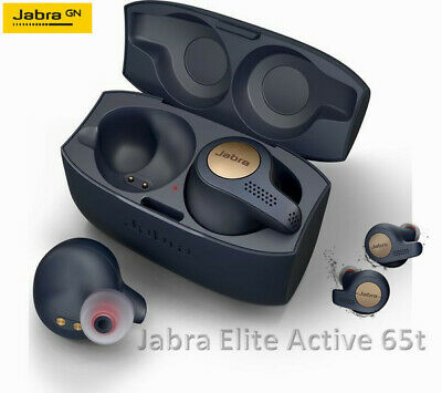 JABRA Elite Active 65t Wireless Bluetooth Headphones - Copper Blue - UK STOCK