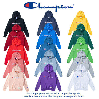 Champion Mens Women's Japan Classic Plus Velvet Embroidery Casual Hoodie Sweater
