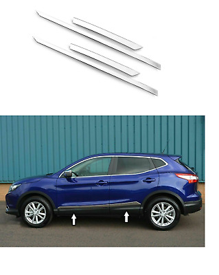 Fits Nissan Qashqai J11 2013Up Chrome Side Door Streamer 4Door 4Pcs StainleSteel