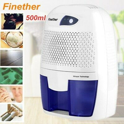 Dehumidifier Portable Air Dryer Damp Moisture Free Bedroom Kitchen Quiet 500ML A