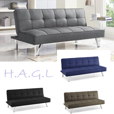 NEW MODERN FUTON Sofa Couch Bed Sleeper Convertible Lounge ...