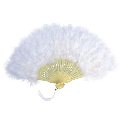 White Feather Victorian Fan - Fancy Dress Accessory