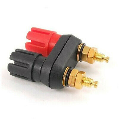 3pcs Connector 4mm Dual Banana Chassis Panel Mount Jack Binding Post Red & Black