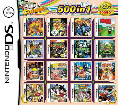 500in1 Game Games Cartridge Multicart For  DS NDS NDSL NDSi 2DS 3DS US