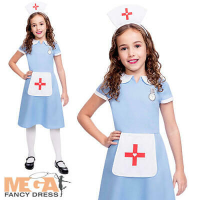 Nurse Girls Fancy Dress Hosptial Doctor Uniform Kids Occupation Costume Outfit