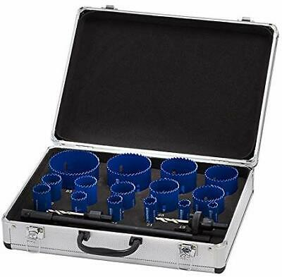 Thürmer Tools 16-83 MM + 2 ADAPTERS HOLE SAW SET HSS-BI METAL CO8% 17 PCS.