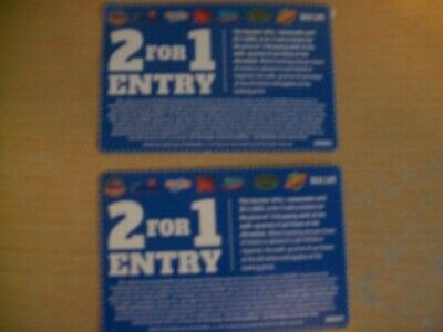 2for1 Voucher x2 Merlin Theme parks Alton Towers Chessington Thorpe Park etc