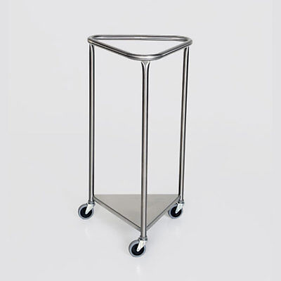 "MCM-2006 18"" Triangle Top Stainless Steel Linen Hamper New"