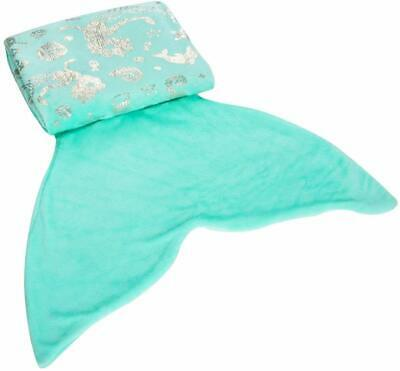 Mermaid Tail Blanket Warm Fluffy Flannel with Beautiful Glossy for Kids Teens